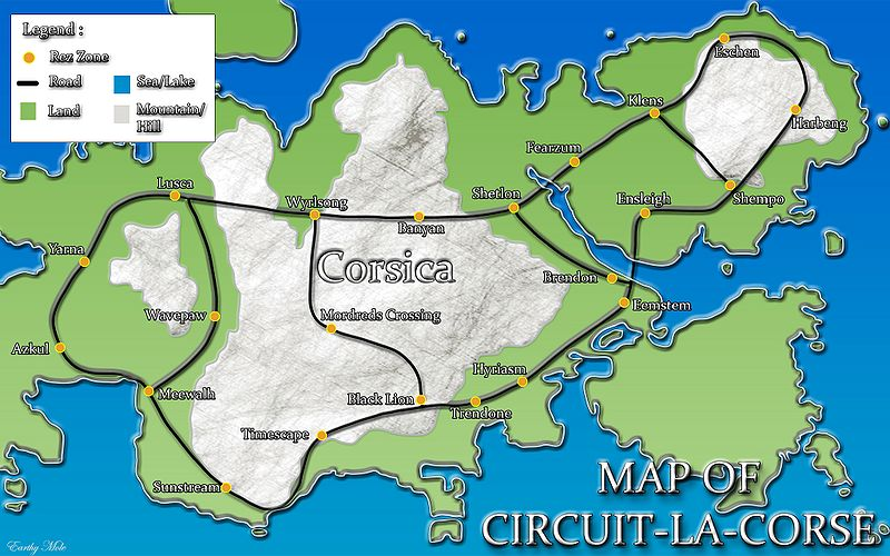 Road Map of Circuit La Corse
